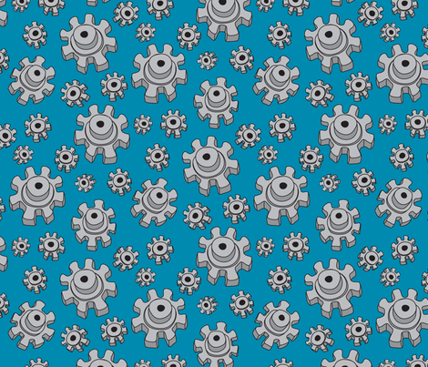 RobotGears fabric by ghennah on Spoonflower - custom fabric