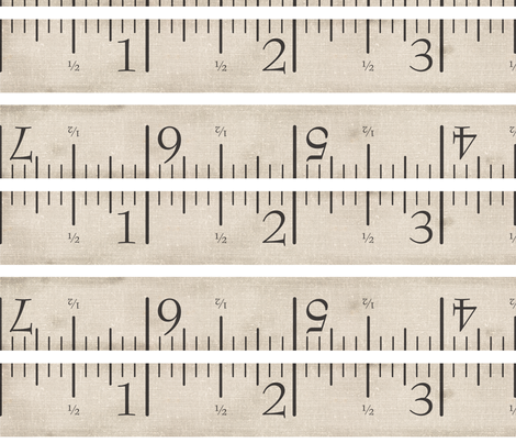 Antique Tape Measure fabric by nightgarden on Spoonflower - custom fabric