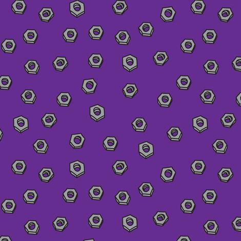 RobotNutsPurple fabric by ghennah on Spoonflower - custom fabric