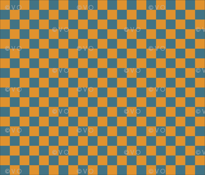 blue and yellows checkers