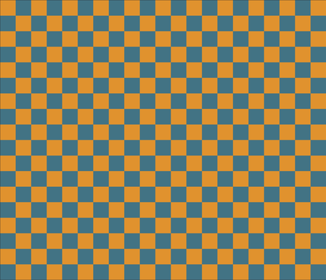 blue and yellows checkers fabric by vo_aka_virginiao on Spoonflower - custom fabric