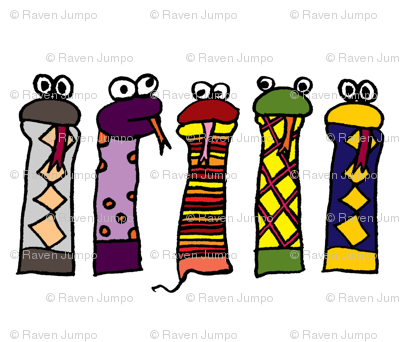Large Slithery Socks