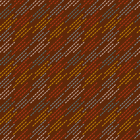 Robot Chase | Dotted Stripes Pattern fabric by irrimiri on Spoonflower - custom fabric