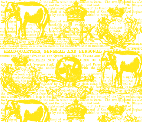 Regiment Yellow on White fabric by susiprint on Spoonflower - custom fabric