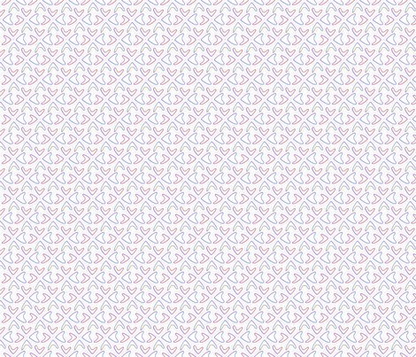 Cuorifogli fabric by creale on Spoonflower - custom fabric