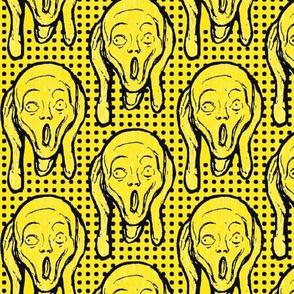 Scream Black on Yellow