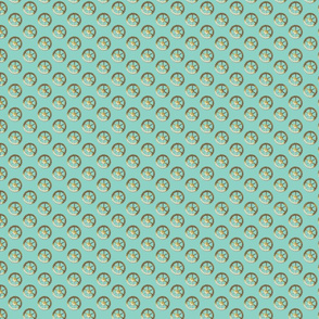 spare parts gears-turquoise
