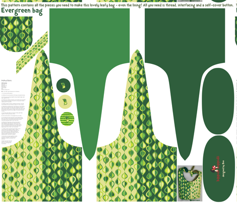 Evergreen bag fabric by bippidiiboppidii on Spoonflower - custom fabric