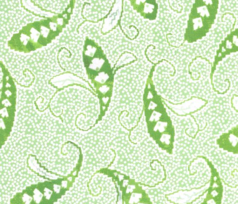 Paisly on Microdots - green
