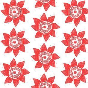 red parking flower