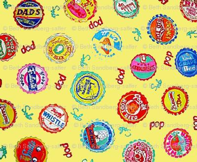 Bottlecaps - yellow