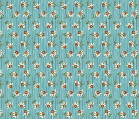 daisy_shower_ aqua fabric by hoodiecrescent&stars on Spoonflower - custom fabric