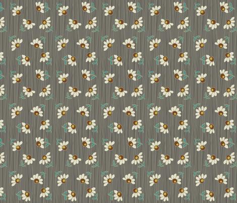 daisy_shower-gray fabric by hoodiecrescent&stars on Spoonflower - custom fabric