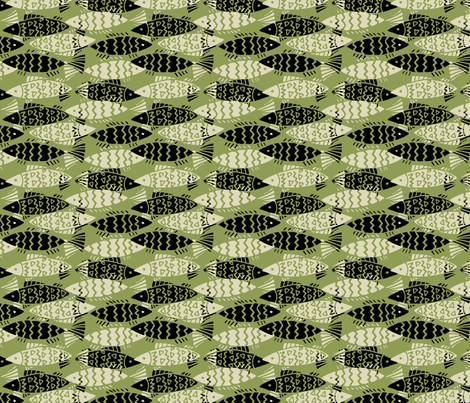 swim_together-lime fabric by hoodiecrescent&stars on Spoonflower - custom fabric