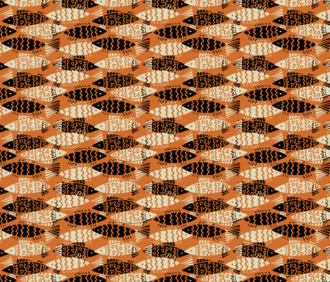 swim_together-orange fabric by hoodiecrescent&stars on Spoonflower - custom fabric