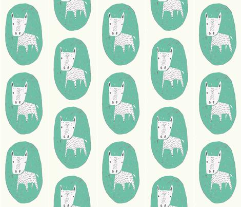 greendog fabric by lutawolf on Spoonflower - custom fabric