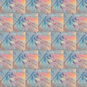 Wildflower, horse in pastels