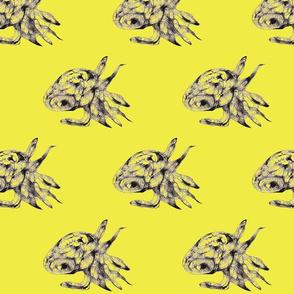 Tiny squid-c yellow green