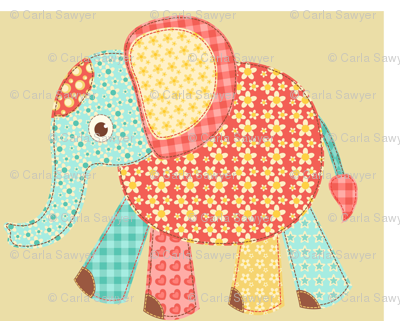 Patchwork Elephant