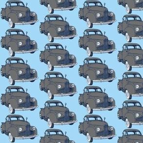 1940's Studebaker pick up truck  gray on light blue