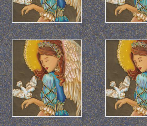 Angel Dove Christmas Pillow Panel fabric by greerdesign on Spoonflower - custom fabric