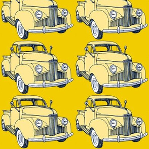 1940's Studebaker truck  cream on yellow M Series