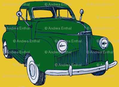 1940's Studebaker truck  green on yellow M Series