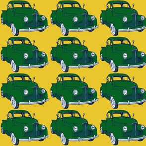 1940's Studebaker truck  green on yellow M Series
