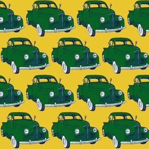1940's Studebaker truck M5 Coupe Express green on yellow