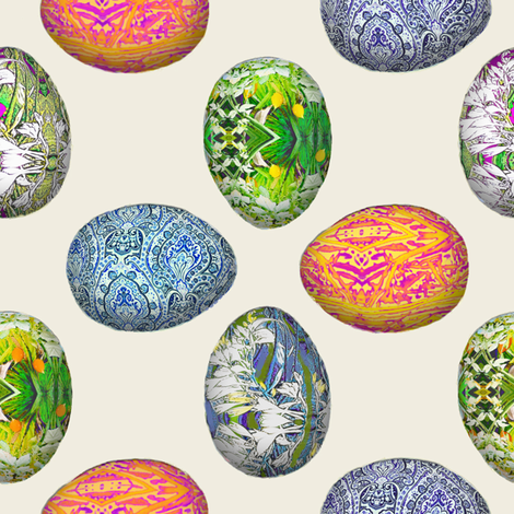 Pesanky Eggs 1000 fabric by wren_leyland on Spoonflower - custom fabric