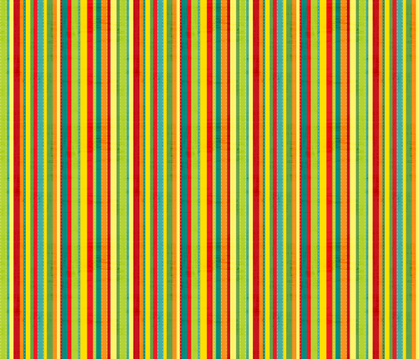 Space Robot stripe fabric by jennartdesigns on Spoonflower - custom fabric