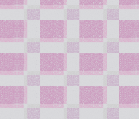Pink Textured Plaid © Gingezel™ 2012 fabric by gingezel on Spoonflower - custom fabric