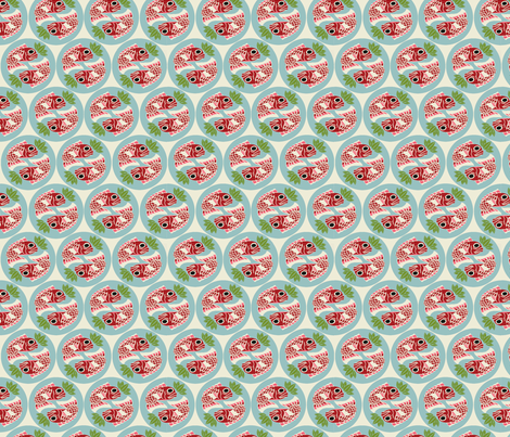 Mede-Tai_Dot-Cream fabric by hoodiecrescent&stars on Spoonflower - custom fabric