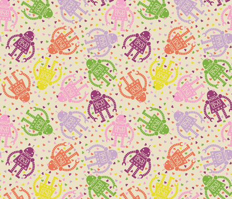 scattered_robots fabric by natasha_k_ on Spoonflower - custom fabric