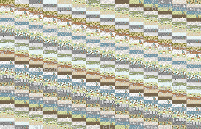 hello robot diagonal cheater quilt