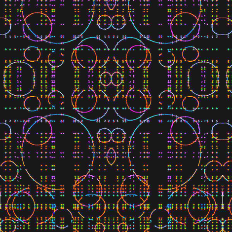 Neon Dots fabric by bettieblue_designs on Spoonflower - custom fabric