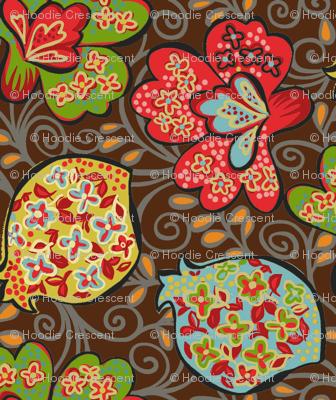 Funky Floral / Brown