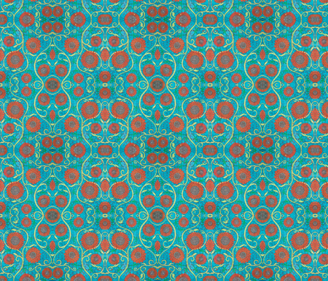 Kate's flower, variation tiny fabric by hooeybatiks on Spoonflower - custom fabric