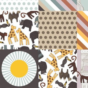 urban jungle cheater quilt squares