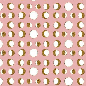 Gold Moons (pink)