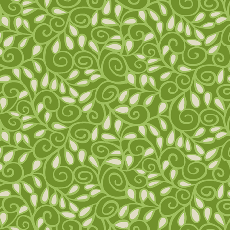 Step 'n Seed / Lime fabric by hoodiecrescent&stars on Spoonflower - custom fabric