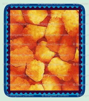 Tater Tot Stamp Blue Black