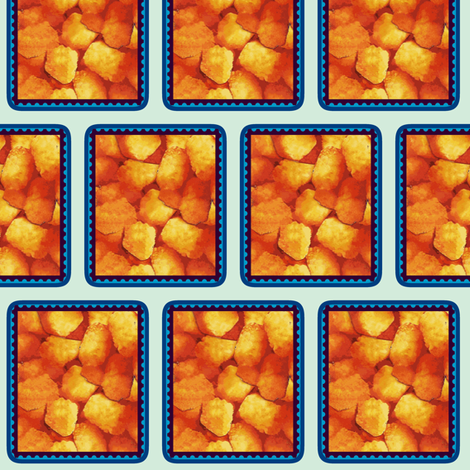 Tater Tot Stamp Blue Black fabric by margaretdaniero on Spoonflower - custom fabric