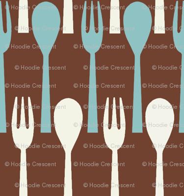 Spoon & Fork / Brown