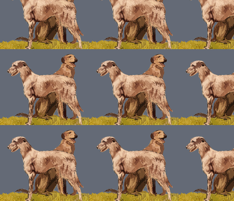 Scottish_deerhounds fabric by dogdaze_ on Spoonflower - custom fabric