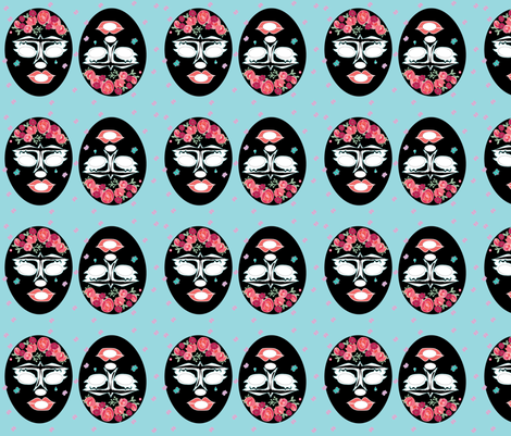 Frida Lucha libre fabric by gurumania on Spoonflower - custom fabric