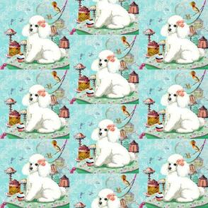 White Poodle & Cupcake
