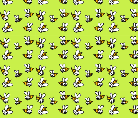 Bees in the early morning air fabric by gurumania on Spoonflower - custom fabric