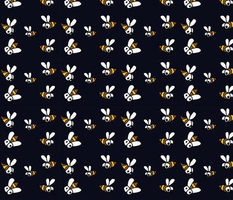 midnight_bees fabric by gurumania on Spoonflower - custom fabric