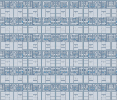 Limestone Blocks horizontal stripe © Gingezel™ 2012 fabric by gingezel on Spoonflower - custom fabric